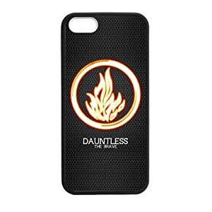 Tt-shop Custom Divergent Dauntless 01 Phone Case Cover For iPhone 5, 5S (Laser Technology)