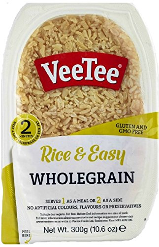 (Veetee Dine In Rice - Microwavable Whole Grain Brown Rice - 9.9 oz - Pack of 6)