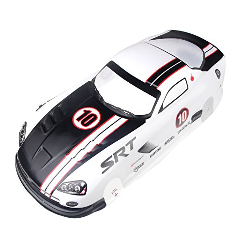 Coolplay 1/10 PVC On Road Drift Car Body Shell RC Racing Accessories Dodge Viper SRT10 ACR-X (White) ()
