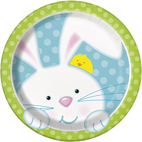 Spring Bunny Easter Dessert Plates, 8ct