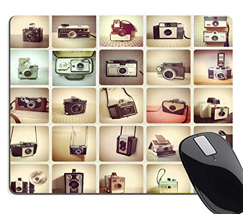 - HAPPY-M Gaming Mouse Pad Cameras, Vintage Camera Retro Collection Colorful