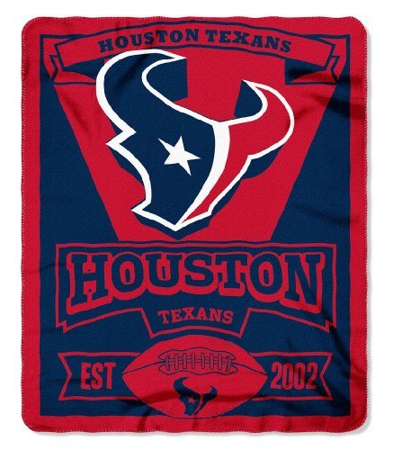 NFL Houston Texans Marque Printed Fleece Throw, 50-inch by 60-inch