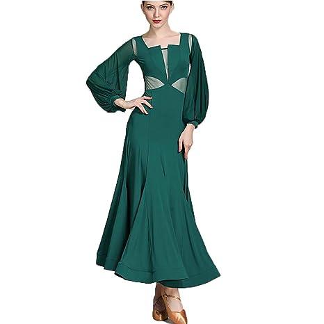 ZTXY Vestido de Baile lírico Verde Oscuro Leche Seda Faldas ...