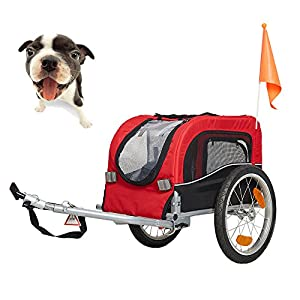 Lucky Tree Pet Dog Bike Trailer Bicycle Trailer Carrier Cycling 49