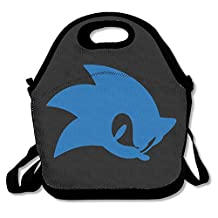 Sonic The Hedgehog Lunch Bag Lunch Boxes, Waterproof Outdoor Travel Picnic Lunch Box Bag Tote With Zipper And Adjustable Crossbody Strap