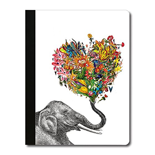 (Tree-Free Greetings Love Elephant Soft Cover 140 Page Recomposition College Ruled Notebook, 9.75 x 7.25 Inches (CJ47369))