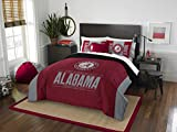 The Northwest Company Officially Licensed NCAA Alabama Crimson Tide Modern Take Full/Queen Comforter and 2 Sham Set