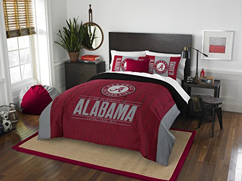 Officially Licensed NCAA Alabama Crimson Tide Modern Take Full/Queen Comforter and 2 Sham Set