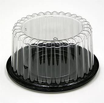 Amazon Com Pactiv 8 Quot Black Cake Base With 4 Quot Fluted Dome