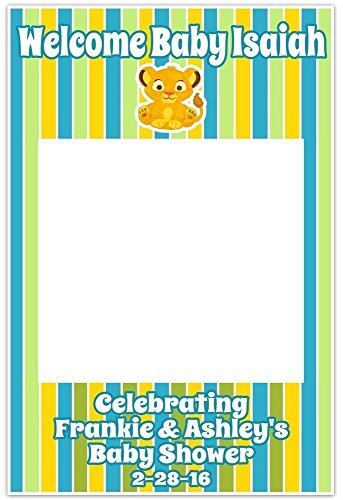 Baby Simba Lion King It\'s a Boy Baby Shower Selfie Frame Social ...