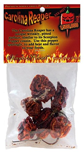 Dried Hot Carolina Reaper Pepper Pods, Chili Mix 1/4 oz. Packet (0.25 Ounce Pods)