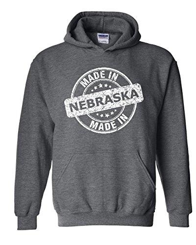 NIB Made In NE Nebraska Flag Omaha Map Cornhuskers Home Of University Of Unisex Hoodies - In Shopping Omaha Nebraska