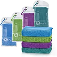 """U-pick 4 Packs Cooling Towel (40""""x 12""""), Ice Towel,Microfiber Towel,Soft Breathable Chilly Towel for"""