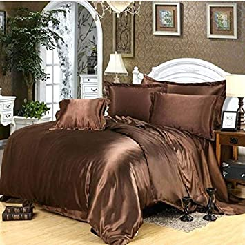 Amazon Com Jc Bedding Luxurious Very Soft Satin Silk 4pc Duvet