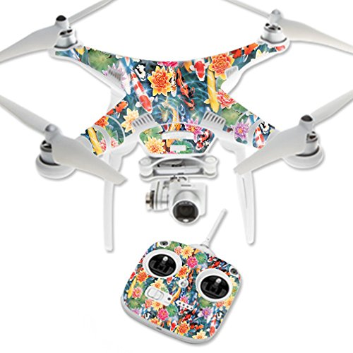 MightySkins Skin For DJI Phantom 3 Standard – Koi Pond | Protective, Durable, and Unique Vinyl Decal wrap cover | Easy To Apply, Remove, and Change Styles | Made in the USA