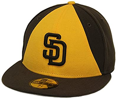 New Era 59Fifty San Diego Padres Yellow Brown Fitted Cap