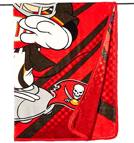 (The Northwest Company Officially Licensed NFL Tampa Bay Buccaneers Disney's Mickey CoBranded Micro Raschel Throw Blanket, 46