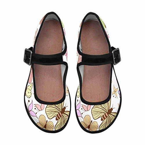 Interestprint Femmes Confort Mary Jane Appartements Casual Chaussures De Marche Multi 6