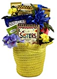 To My Dearest Sister, A Gift Basket For Sisters In Bonnet Shaped Straw Pot Cover - Loaded With Treats Selected For Her