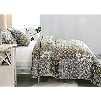 Amazon Com Decmay 3 Piece Real Patchwork 100 Cotton