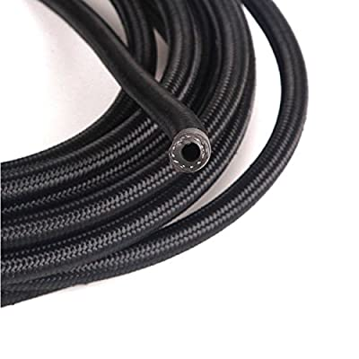 yjracing 10Ft an-4 Nylon Oil Fuel Gas Line Hose + 4AN Fittings Kit (Black): Automotive
