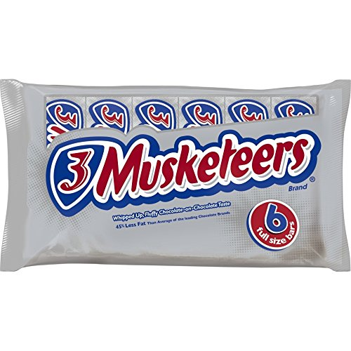 3 Musketeers Chocolate Candy Bar Singles, 6 ct, 11.52 (3 Musketeers Candy Bars)