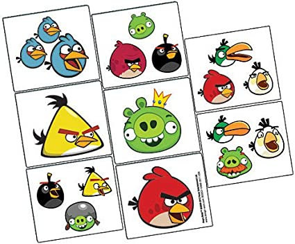 15 Angry Birds Halloween   Stickers Party Favors Teacher Supply  FREE SHIPPING