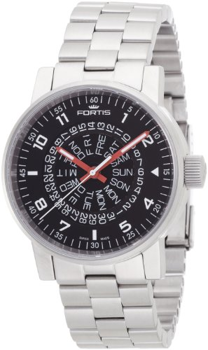 Fortis Space Matic Black Red Men Watch 623.10.51M