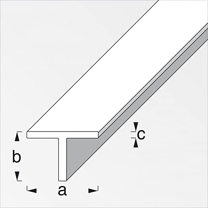 T Profil Alu Eloxiert 100cm In Versch Massen Amazon De Baumarkt