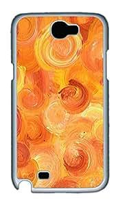Samsung Note 2 Case Orange Memories PC Custom Samsung Note 2 Case Cover White
