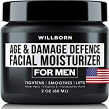 WILLBORN Man Cream - Anti Aging Cream - Damage Defence Facial Moisturizer for Men - 2 OZ - Best Men Cream in Skin Care, Eye Cream and Face Cream - Made in USA