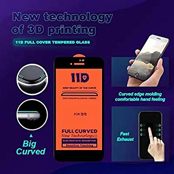 Black Color : Black zys ZHANGYUNSHENG 25 PCS Scratchproof 11D HD Full Glue Full Curved Screen Tempered Glass Film for Galaxy A7 2018