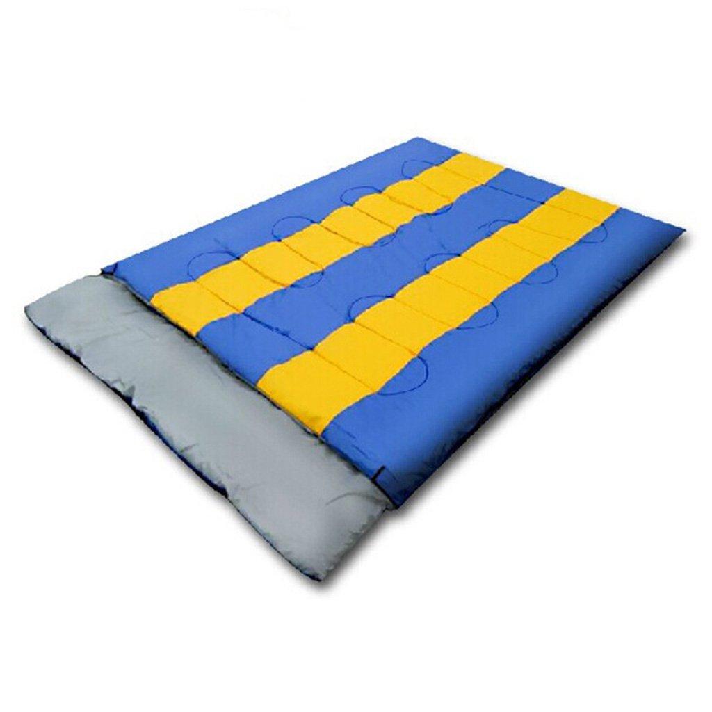 JIBO Saco De Dormir Al Aire Libre De Los Pares Sobre La Tienda De Campaña De Los Pares Que Acampa El Saco De Dormir del Almuerzo (210 * 140Cm),Blue: ...
