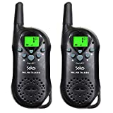 Image of Walkie Talkies, 22 Channel Child Walkie Talkies 2 Way Radio 3 Miles (Up to 5Miles) UHF Handheld Walkie Talkie for Kids (Pair) (Black) by Sokos