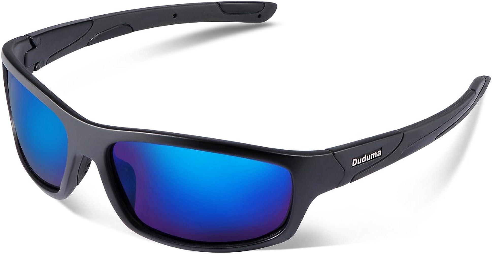 Duduma Gafas de Sol Deportivas Polarizadas Perfectas Para Esquiar Golf Correr Ciclismo con el Marco Irrompible Du645 Para Hombre y Para Mujer