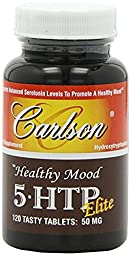 Carlson Healthy Mood 5-htp Elite 50mg Raspberry Chewables, 120 Tablets