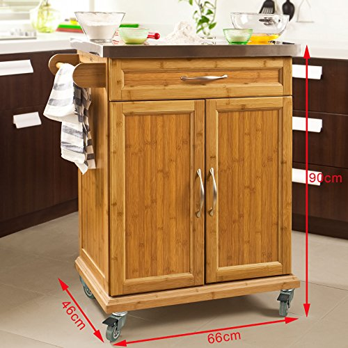 Haotian fkw13 n wood kitchen cabinet kitchen storage for Bamboo kitchen cabinets reviews