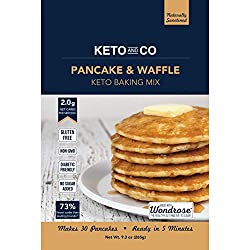 Start your day with fresh, hot, fluffy pancakes with only 2.0g net carbs per serving. Keto Pancake & Waffle Mix is simple to make even on the busiest morning so you can welcome breakfast pastries back into your ketogenic lifestyle. Add eggs, oil,...