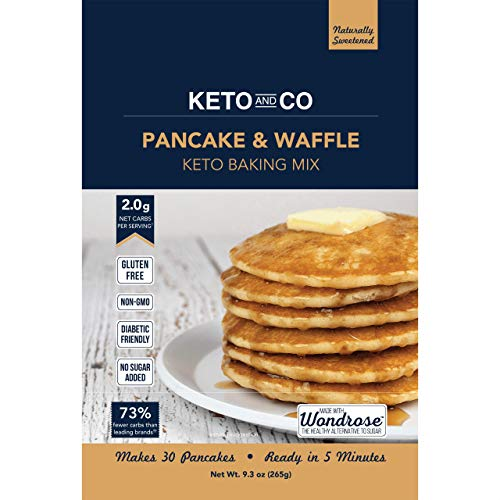 Keto Pancake & Waffle Mix by Keto and Co | Fluffy, Gluten Free, Low Carb Pancakes | 2.0g Net Carbs per Serving | No Sugar Added | Makes 30 Pancakes (Dairy Queen Ice Cream Maker)
