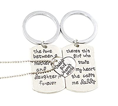 The love between family puzzle pendant necklace set-special gift for family(3PCS)