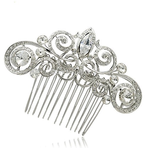 Pin Curl Flapper Red Wig (PROHAIR Rhinestone Crystals Hair Cpmbs Women Hair Hairpins Bridal Wedding Accessories)