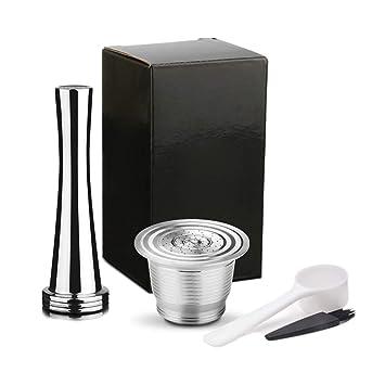 Classicoco Juego de cafetera, Máquina de café, Reutilizable, rellenable, Filtro de cápsula