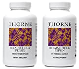 Thorne Research - Betaine HCL/Pepsin - 450 Vegetarian Capsules - 2 Pack
