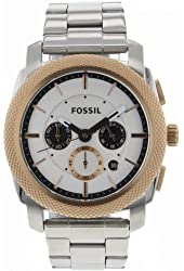 Fossil Men's FS4714 Stainless Steel Analog White Dial Watch