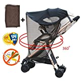 iShine Baby Stroller Sunshade and Mosquito Net, UPF 50+ Air-permeable Adjustable Fit All Stroller Summer