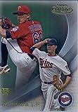 2016 Topps Gold Label Class 1 #55 Jose Berrios Minnesota Twins Baseball Rookie Card in Protective Screwdown Display Case