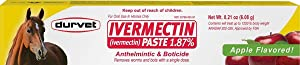 Ivermectin Paste Dewormer - 6.08g dose @ 1.87% Apple Flavor (2-Pack)