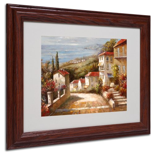 Home in Tuscany by Joval Canvas Artwork in Wood Frame, 11 by 14-Inch - Tuscany Framed