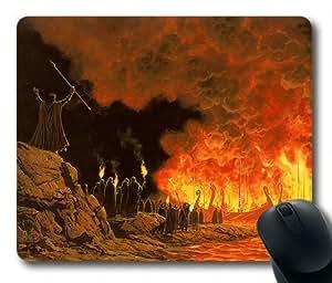 Burning Ships Oblong Shaped Mouse Mat