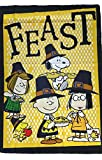 PEANUTS SNOOPY THANKSGIVING FEAST FLAG~SIZE 28″ x 40″~NEW